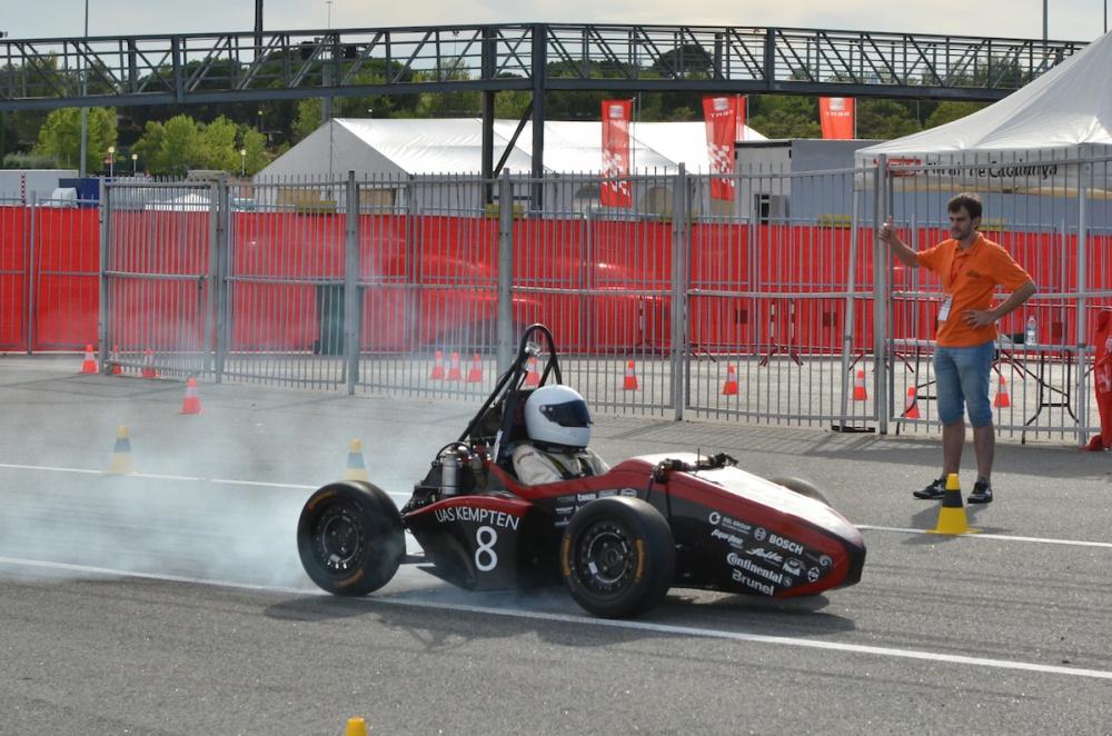 Brake test at first attempt!